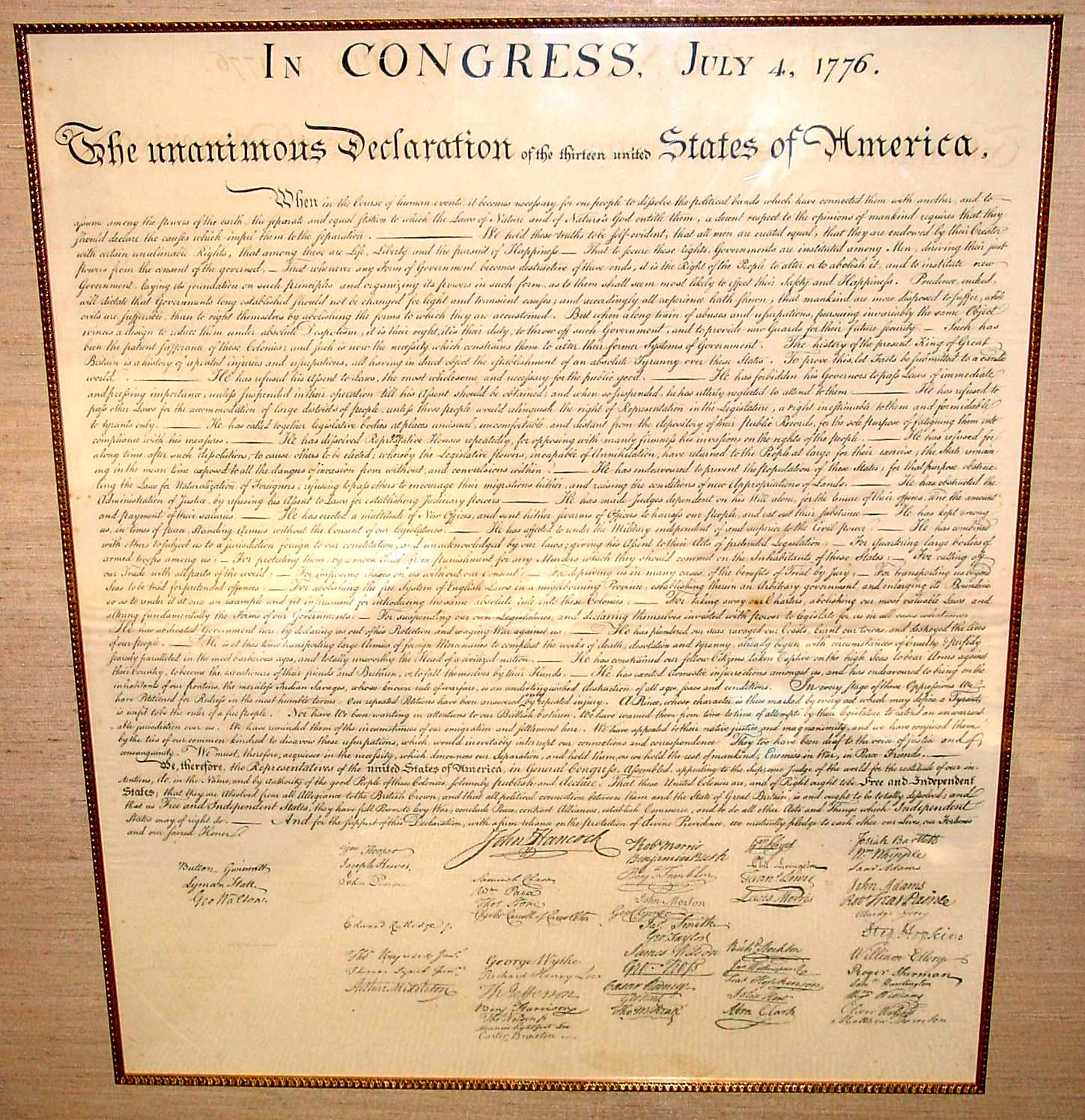 dbq declaration of independence